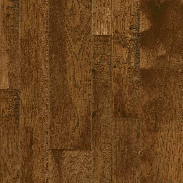 Random Width Solid Hickory Hardwood Flooring in Brick Shade by Armstrong Flooring