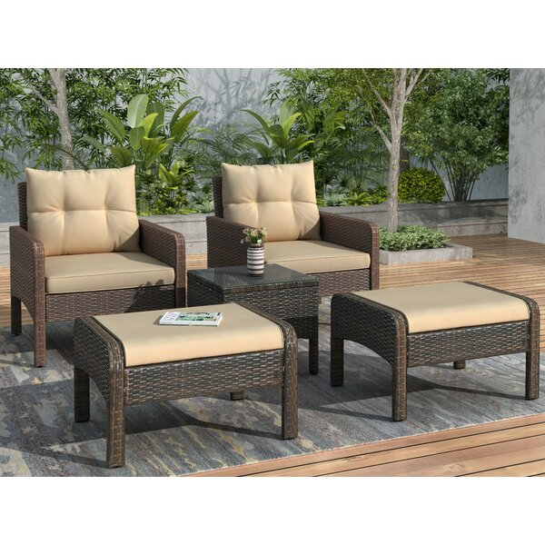 Zenda Patio 5 Piece Seating Group With Cushions By Red Barrel Studio®