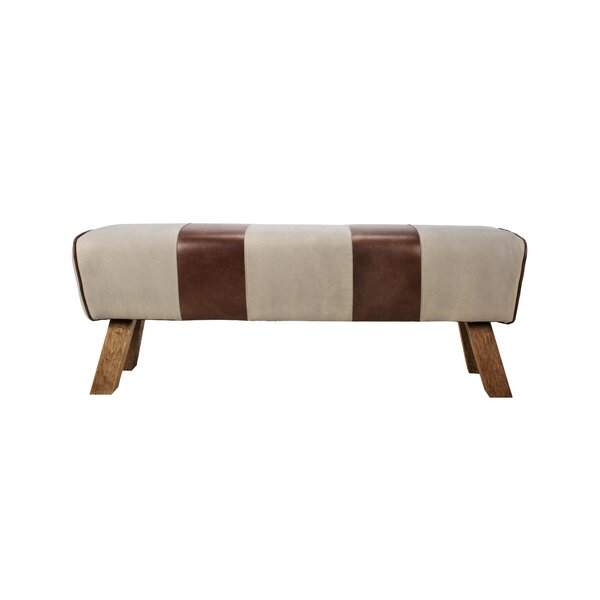 Caples Leather Bench by Foundry Select