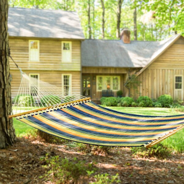 Joey Large Striped Quilted DuraCord Tree Hammock by Longshore Tides