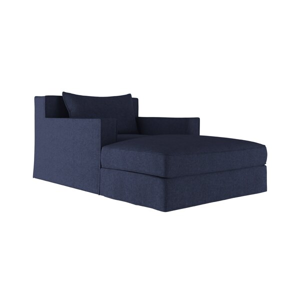 Letendre Velvet Chaise Lounge by 17 Stories
