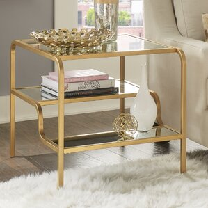 Dacia Mirror End Table by Willa Arlo Interiors