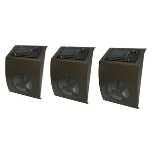 Best Reviews Hummingbird Solar 1-Light Outdoor Flush Mount (Set of 3) By Winsome House