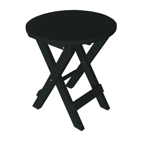 Cowhill Folding Plastic Bistro Table by Highland Dunes