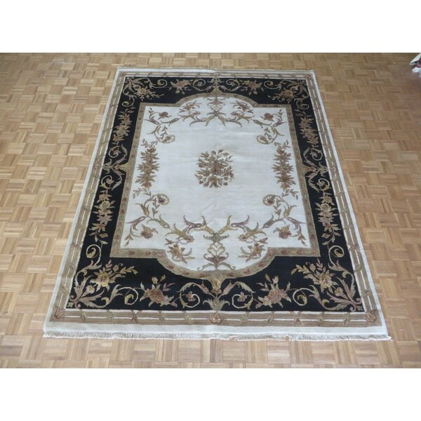 One-of-a-Kind Rainer Hand-Knotted Wool Ivory Area Rug by Astoria Grand