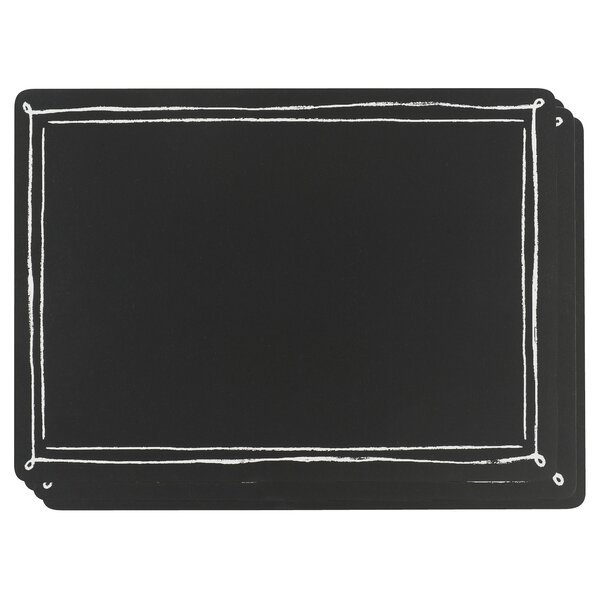 Arabella Blackboard Cork Backed 15.75 Placemat (Set of 4) by Gracie Oaks