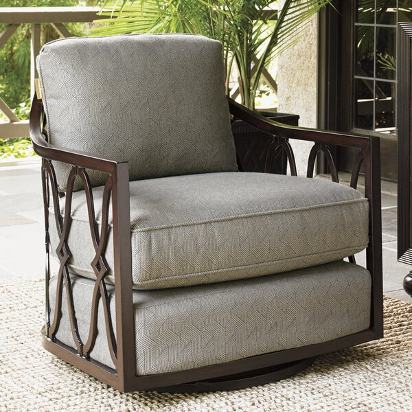 Royal Kahala Swivel Patio Chair with Cushions by T