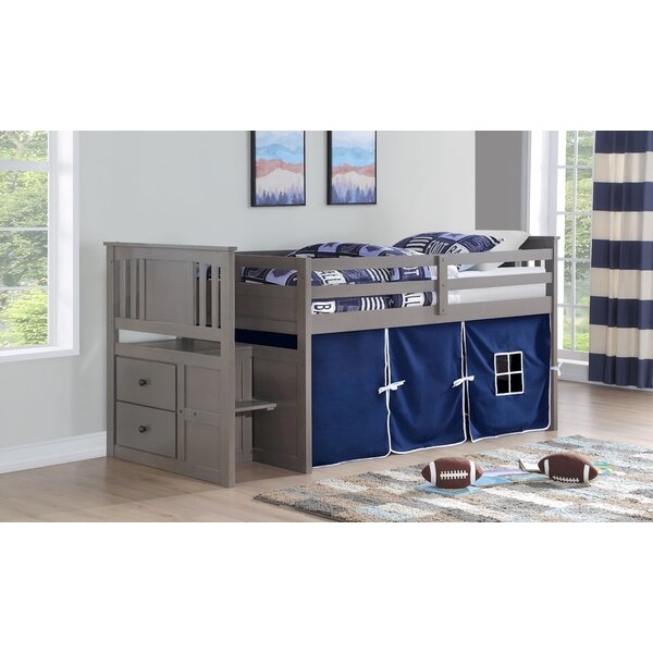 Neasa Twin Loft Bed with Drawers by Harriet Bee