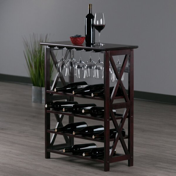 Bedwell 24 Bottle Floor Wine Bottle And Glass Rack By Alcott Hill