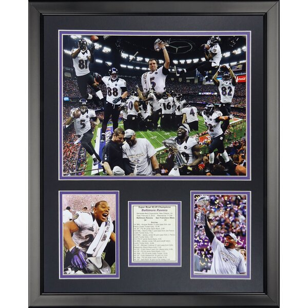 NFL Baltimore Ravens - 2012 Champes Framed Memorabili by Legends Never Die