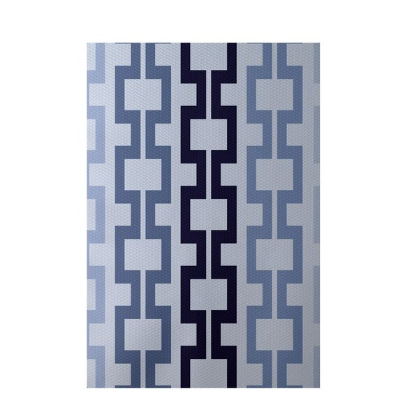 Geometric Blue Indoor/Outdoor Area Rug by e by design