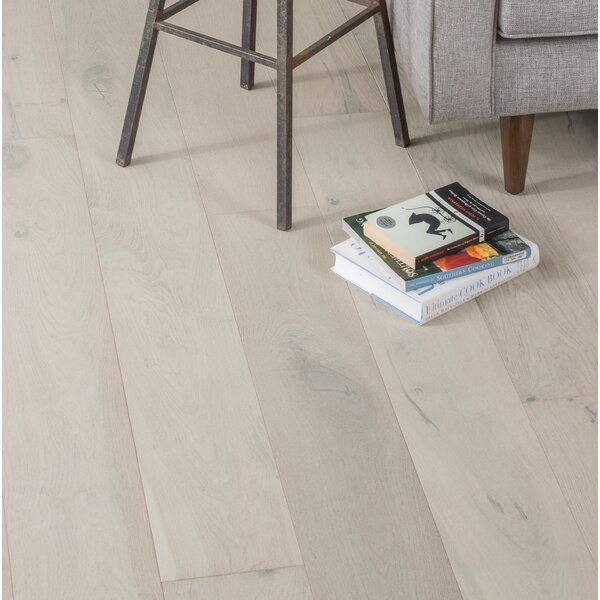 Friendship 7-1/2 Engineered Oak Hardwood Flooring in Whitewash by GoHaus