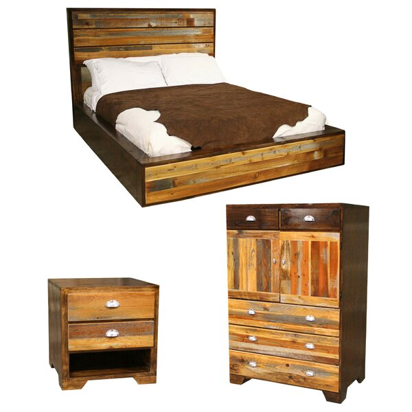 Urban Rustic Platform Configurable Bedroom Set by Utah Mountain