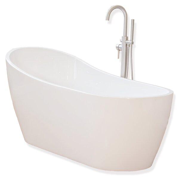 67 x 29 Freestanding Soaking Bathtub by WoodBridge