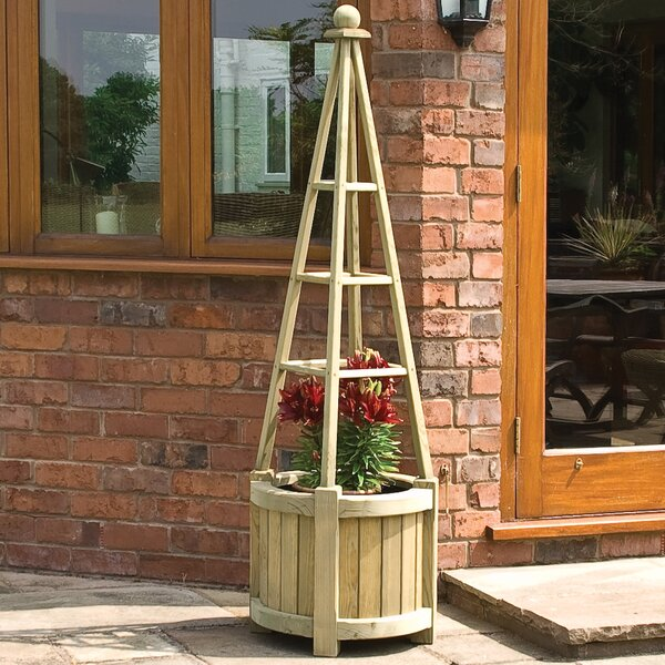 Marberry Obelisk Wood Pot Planter by Rowlinson