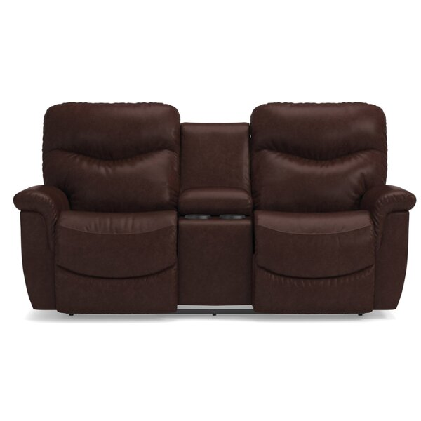 James LA-Z-TIME® Full Reclining Loveseat with Console by La-Z-Boy
