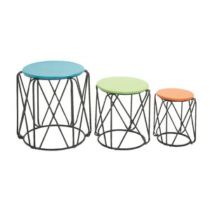 Dametta 3 Piece Nesting Table by Ivy Bronx