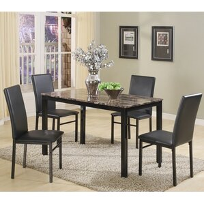 noyes 5 piece dining set set of 5