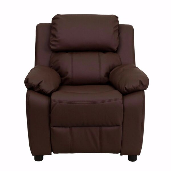 Heins Deluxe Leather Recliner by Zoomie Kids