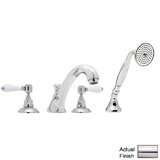Country Double Handle Deck Mounted Roman Tub Faucet by Rohl