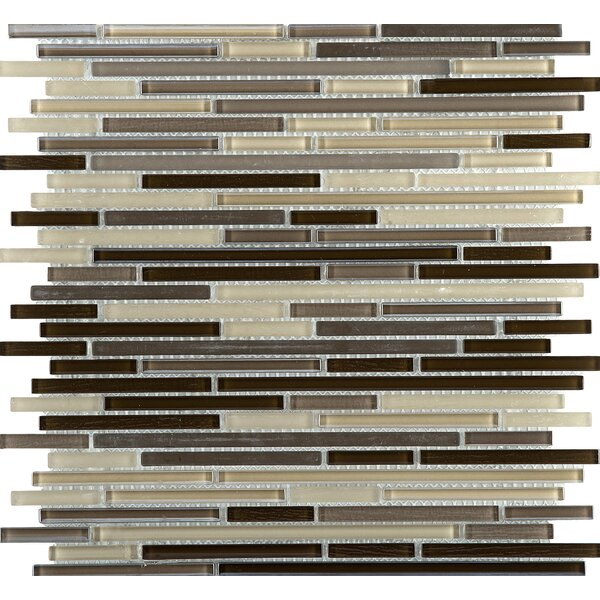 Infinity Random Sized Glass Mosaic Tile in Time by Emser Tile