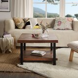 Sieber 4 Legs Coffee Table with Storage by 17 Stories