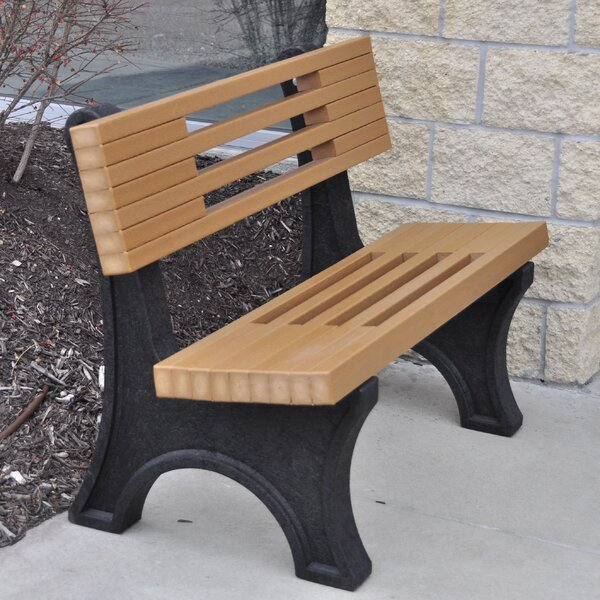 Ariel Modern Recycled Plastic Park Bench by Frog Furnishings