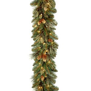Buy Pre-Lit Pine Garland with 100 Clear Lights!