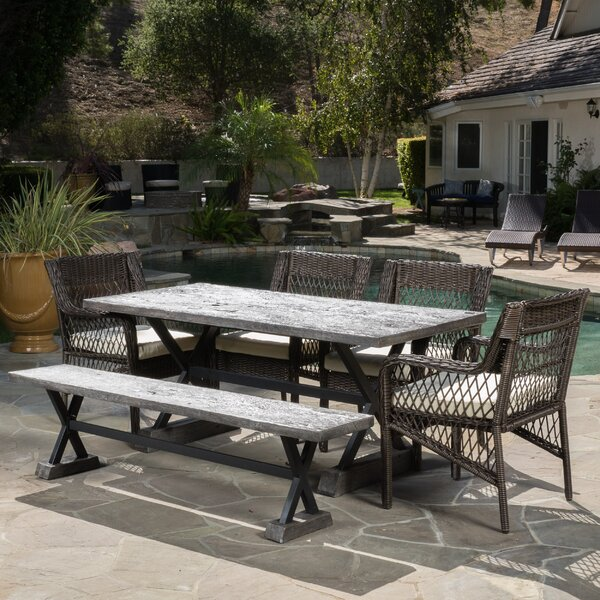 Quedgeley 6 Piece Dining Set with Cushions by Brayden Studio
