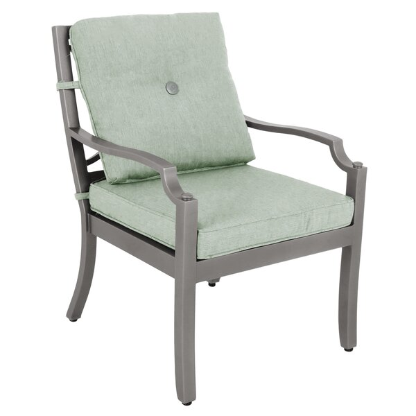 Konevsky Outdoor Patio Dining Chair with Cushion (Set of 2) by Red Barrel Studio