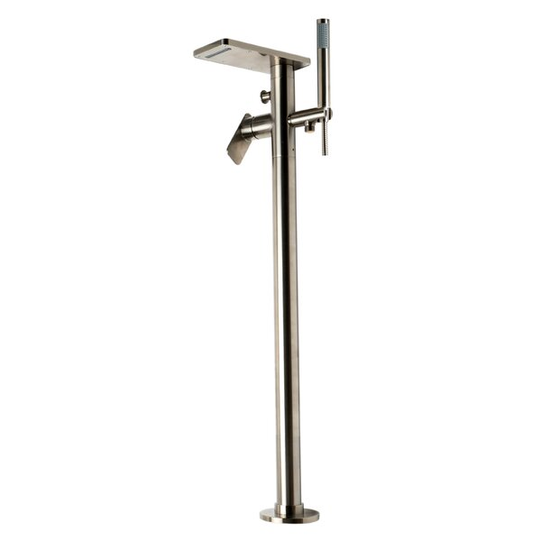 Double Handle Floor Mounted Freestanding Tub Filler Trim By Alfi Brand