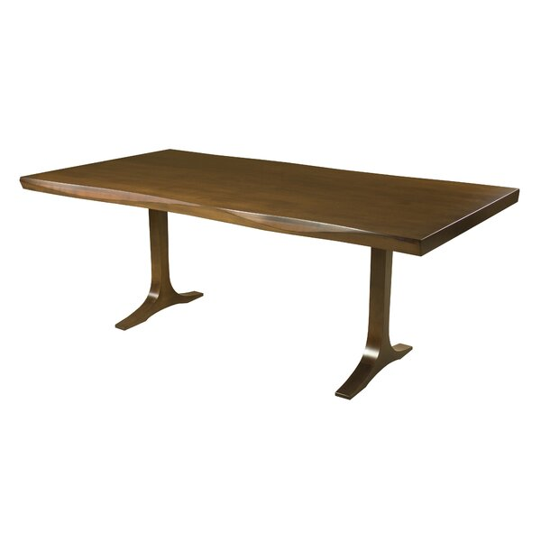 Bacher Maple Sculptured Edge Solid Wood Dining Table by Brayden Studio