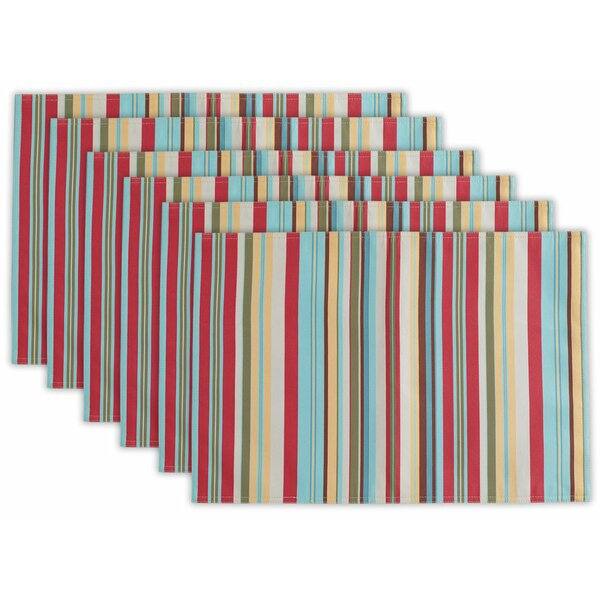 Quillen Summer Stripe Outdoor 19 Placemat (Set of 6) by Winston Porter
