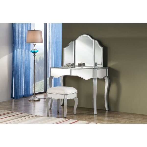 Dangelo Vanity Set with Mirror by Rosdorf Park