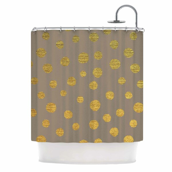 Earth Dots by Nika Martinez Shower Curtain by East Urban Home
