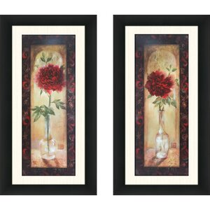 'More Enchanting I' 2 Piece Framed Acrylic Painting Print Set by Ophelia & Co.