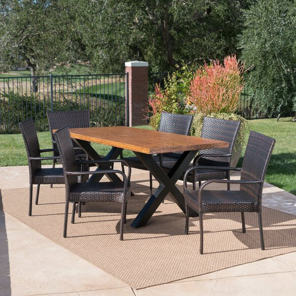 Starrett Outdoor 7 Piece Dining Set by Millwood Pines