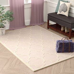Whittingham Hand Tufted Wool Light Pink Ivory Area Rug
