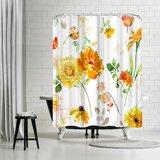 Harrison Ripley Peony Single Shower Curtain by East Urban Home