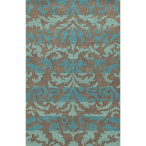 Cleveland Hand-Tufted Blue/Gray Area Rug by Meridian Rugmakers