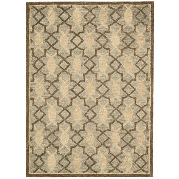 Charleston Hand-Tufted Light Green/Beige Area Rug by Rosecliff Heights