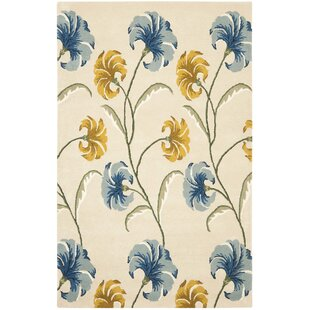 Steve Hand-Tufted Wool Beige/Yellow/Blue/White Area Rug by Charlton Home