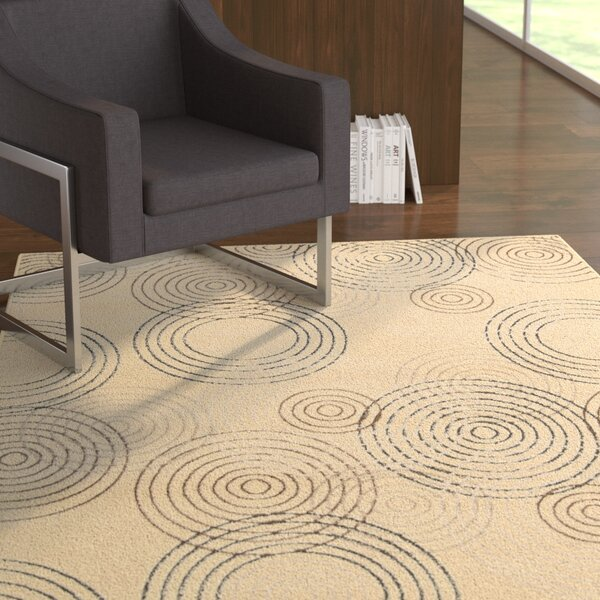 Densmore Ivory Area Rug by Ebern Designs