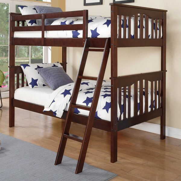 Doran Twin over Twin Slat Bunk Bed by Harriet Bee