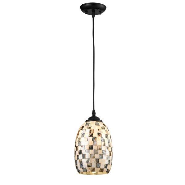 Highwoods Sea-Shell 1-Light Cone Pendant by Fleur De Lis Living