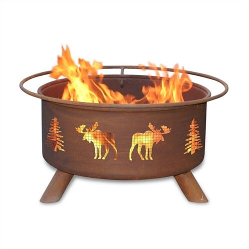 Classic Steel Wood Burning Fire Pit by Patina Products