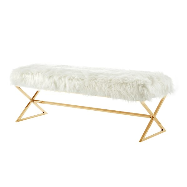 Evonne X-Leg Upholstered Bench by Mercer41