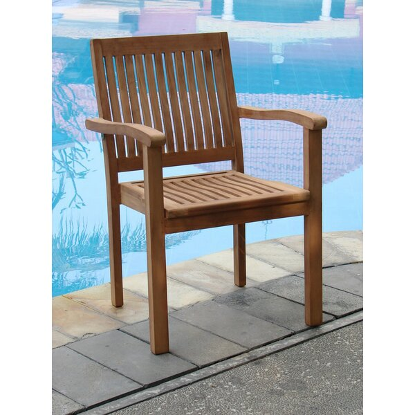 Leveb Stacking Teak Patio Dining Chair (Set of 6) by Teak Smith