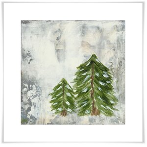 'Forest Pine Pair' Acrylic Painting Print by Union Rustic