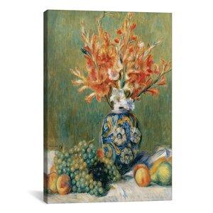 'Nature Morte, Fleurs Et Fruits 1889' by Pierre-Auguste Renoir Painting Print on Canvas by iCanvas